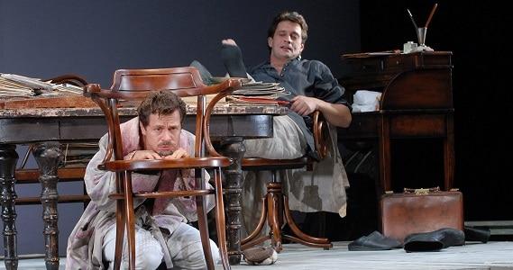 """Szene 3 aus dem Theaterstück """"Onkel Wanja"""" des Theater Mossovet in Deutschland"""