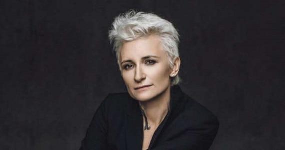 """Diana Arbenina, russische Sängerin, Musikerin, Dichterin, Leiterin der Rockband """"Nochnye snajpery"""", Teilnehmer des Konzerts """"Pesnya goda"""" 2019 in Deutschland"""