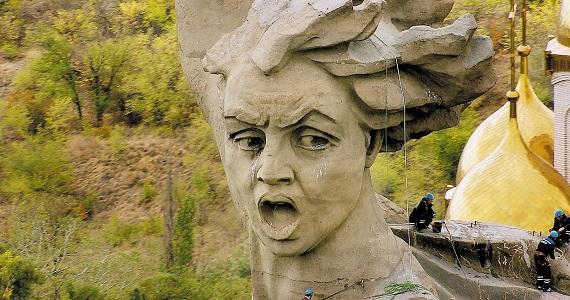 """Wolgograd, eine Heldenstadt, das Zentrum der Schlacht von Stalingrad, im filmischen Meisterwerk """"Russland von oben"""", Deutschlandpremiere im Februar 2020, Tickets auf der Website"""