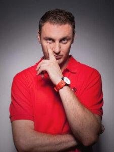 Der russische Rapper Anton Sergeevich Mishenin, Mitglied der Rap-Band Kasta unter dem Pseudonym Schlange