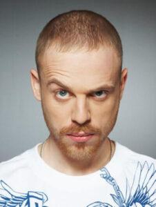 Der russische Rapper Mikhail Olegovich Epifanov, Mitglied der Rap-Band Kasta unter dem Pseudonym Shym