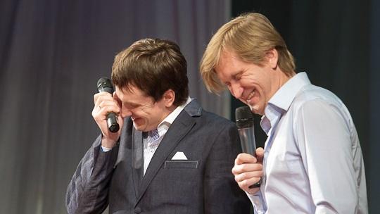 Участники шоу «Уральские пельмени» Вячеслав Мясников и Андрей Рожков
