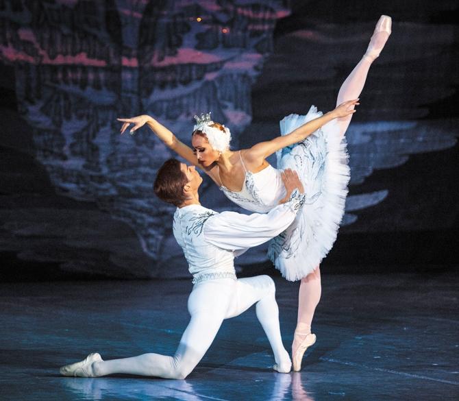 Принц Зигрфид и принцесса Одетта, балет Лебединое Озеро
