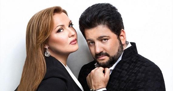 Звезды оперной сцены Анна Нетребко и Юсиф Эйвазов