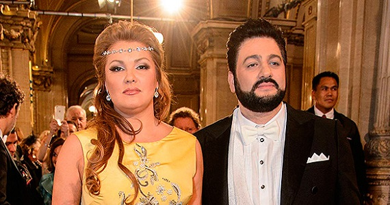Оперные певцы и супруги Анна Нетребко и Юсиф Эйвазов