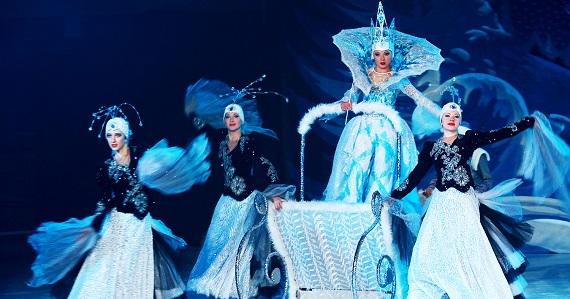 Постановка Русского цирка на льду «Снежная Королева» с акробатическими трюками и световым шоу, билеты на сайте агентства Artist Production