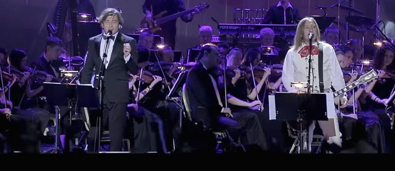 Большой концерт группы Би-2 с симфоническим оркестром в Crocus City Hall в подмосковском Красногорске