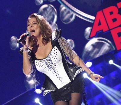 Немецкая поп-певица Сандра, бывшая вокалистка диско-группы Arabesque, участница музыкального фестиваля