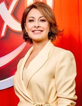 Актриса и телеведущая Елена Кравец, единственная девушка в команде студии, прославилась пародиями на женщин-политиков