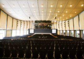 Schwarzwaldhalle в Карлсруэ – первый зал в Европе с самонесущей подвесной крышей из предварительно напряженного бетона